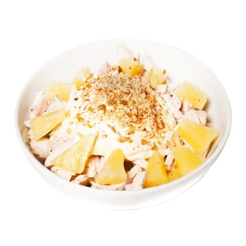 Салат орехи курица ананас